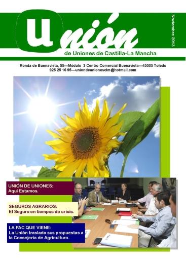 Portada Revista 01 Unión de Uniones de Castilla-La Mancha - noviembre 2013