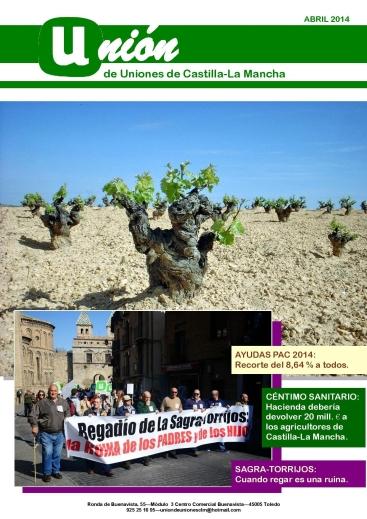 Portada Revista 02 Unión de Uniones de Castilla-La Mancha- abril 2014