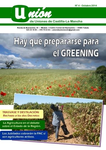 Portada Revista 04 Unión de Uniones de Castilla-La Mancha- octubre 2014