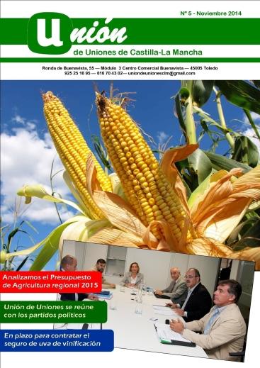 Portada Revista 05 Unión de Uniones de Castilla-La Mancha - noviembre 2014