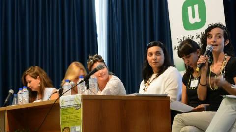 Pilar Merino, Presidenta de la Unión de Mujeres de Castilla-La Mancha en las Jornadas en Segovia