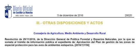 Castilla-La Mancha ZEPAs Esteparias