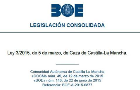 Modificación de la Ley de Caza de Castilla La Mancha