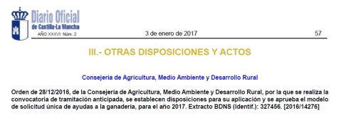 Ayudas ganadería Castilla-La Mancha