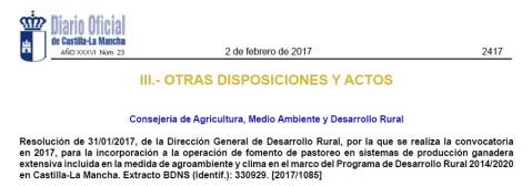 ayudas Pastorero Extensivo Castilla-La Mancha