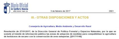 ZEPAs Esteparias Castilla-La Mancha