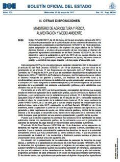 Ampliación plazo cesiones derechos PAC