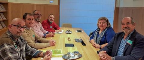 Reunión con Clara Aguilera, del Grupo de Progresistas y Socialistas y miembro de la Comisión de Agricultura