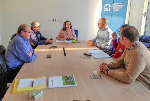 Reunión con Mazaly Aguilar, del Grupo de Conservadores y Reformistas del Parlamento Europeo y Vicepresidenta de la Comisión de Agricultura